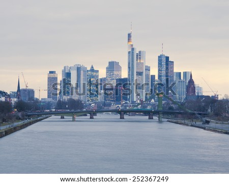 Frankfurt am Main city skyline - stock photo