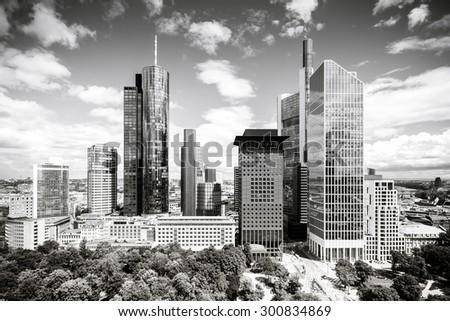 Frankfurt am Main cityscape, Germany - stock photo