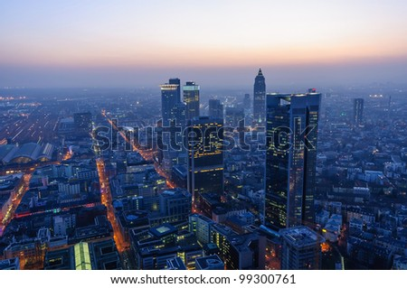 Frankfurt am Main, Germany - stock photo