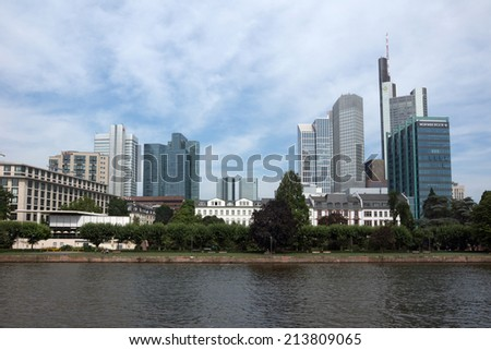 FRANKFURT AM MAIN, GERMANY - July 22:Frankfurt is the largest city in the German state of Hesse and the financial centre of Germany. July 22, 2014 in Frankfurt am Main, Germany
