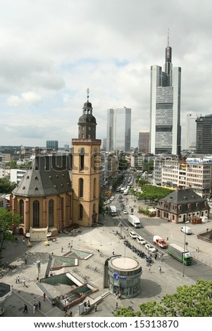 Frankfurt Financial Hub - stock photo