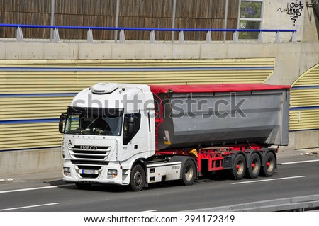 FRANKFURT,GERMANY-APRIL 16: truck on April 16,2015 in Frankfurt,Germany.