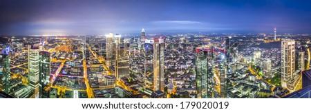 Frankfurt, Germany city skyline. - stock photo
