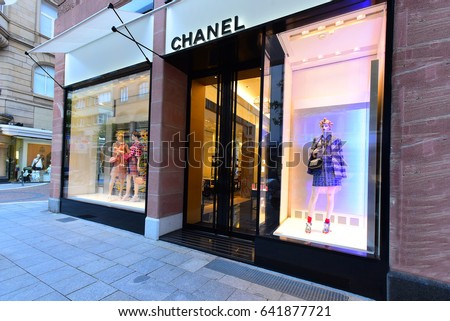 FRANKFURT,GERMANY-MAY 08: CHANEL fashion store on May 08,2017 in Frankfurt,Germany.CHANEL is a French fashion company in Paris, France.
