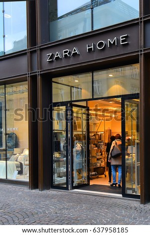 FRANKFURT,GERMANY-MAY 08: ZARA HOME  store on May 08,2017 in Frankfurt,Germany.Zara Home is a company belonging to the Spanish Inditex group dedicated to the manufacturing of home textiles.