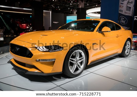 2018 ford capri. delighful ford frankfurt germany  sep 13 2017 2018 ford mustang gt sports car at and ford capri