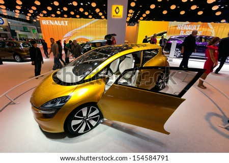 FRANKFURT, GERMANY - SEP 13: Renault R-Space at the IAA motor show on Sep 13, 2013 in Frankfurt. More than 1.000 exhibitors from 35 countries are present at the world's largest motor show.  - stock photo