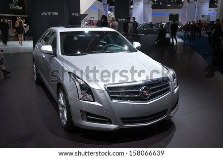 FRANKFURT, GERMANY - SEPTEMBER 11: Frankfurt international motor show (IAA) 2013. Cadillac ATS