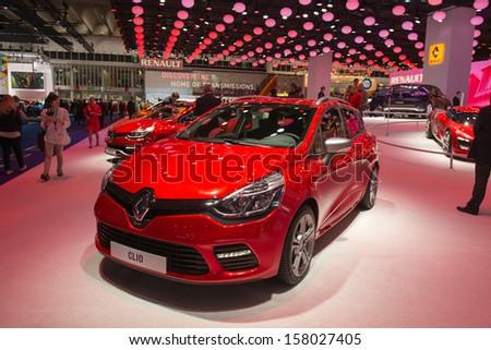 FRANKFURT, GERMANY - SEPTEMBER 11: Frankfurt international motor show (IAA) 2013. Renault Clio - stock photo