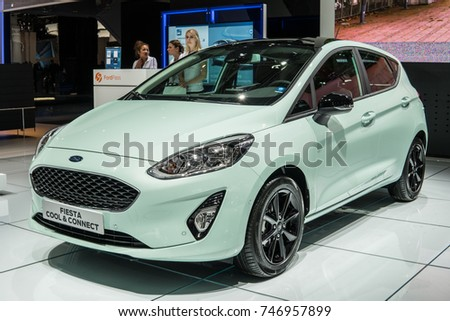Frankfurt, Germany, September 13, 2017: new Ford Fiesta Cool & Connect at 67th International Motor Show (IAA)