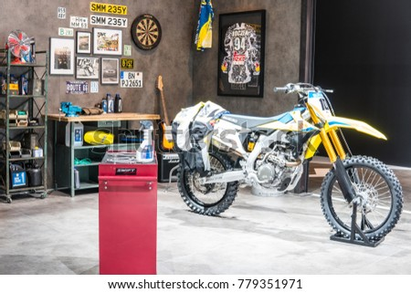67th international motorcycle exhibition stock images royalty frankfurt germany september 13 2017 suzuki booth car motorcycle repair sciox Images