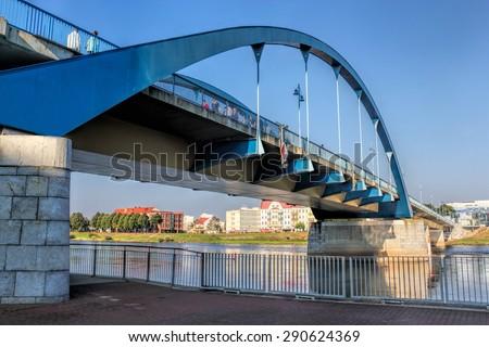 Frankfurt  Oder Bridge - stock photo