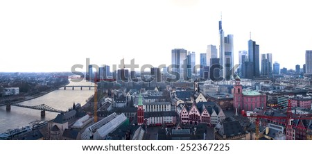 Frankfurt panorama - stock photo