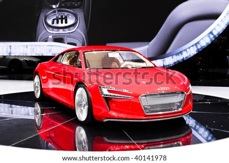 FRANKFURT - SEP 15: Audi R8 on 63rd IAA (Internationale Automobil Ausstellung) on September 15, 2009 in Frankfurt, Germany.