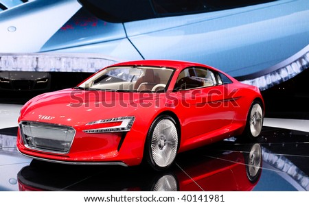 FRANKFURT - SEP 15: Audi R8 on 63rd IAA (Internationale Automobil Ausstellung) on September 15, 2009 in Frankfurt, Germany. - stock photo