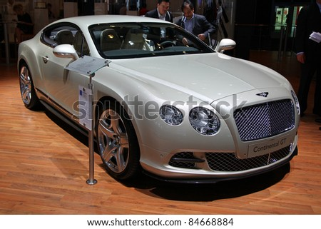 FRANKFURT - SEP 14: Bentley Continental GT shown at the 64th IAA (Internationale Automobil Ausstellung) on September 14, 2011 in Frankfurt, Germany.
