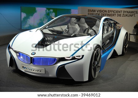 FRANKFURT - SEP 20: BMW Concept Car Vision Efficient Dynamics on 63rd IAA (Internationale Automobil Ausstellung) on September 20