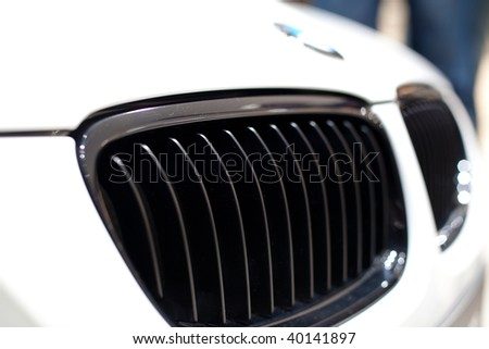 FRANKFURT - SEP 15: BMW details on 63rd IAA (Internationale Automobil Ausstellung) on September 15, 2009 in Frankfurt, Germany. - stock photo