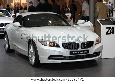 FRANKFURT - SEP 13: BMW Z4 sDrive 28i shown at the 64th IAA (Internationale Automobil Ausstellung) on September 13, 2011 in Frankfurt, Germany.