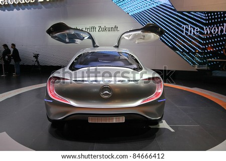 FRANKFURT - SEP 14: Mercedes Benz F125 Concept Car shown at the 64th IAA (Internationale Automobil Ausstellung) on September 14, 2011 in Frankfurt, Germany.