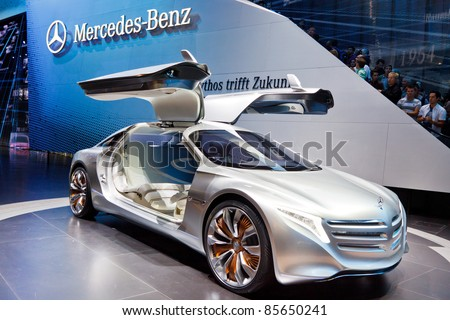 FRANKFURT - SEP 24: Mercedes-Benz F125 Concept Car shown at the 64th IAA Motor Show (Internationale Automobil-Ausstellung) in Frankfurt, Germany, on September 24, 2011. - stock photo