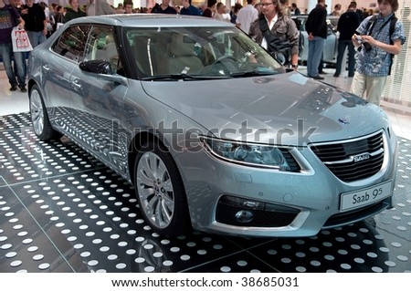 FRANKFURT - SEP 20: New SAAB 95 on 63rd IAA (Internationale Automobil Ausstellung) on September 20, 2009 in Frankfurt, Germany. - stock photo