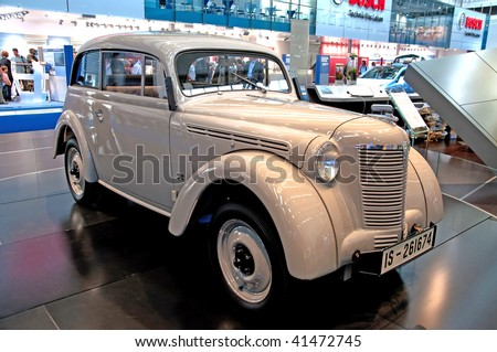 FRANKFURT - SEP 20: Old timer on 63rd IAA (Internationale Automobil Ausstellung) on September 20, 2009 in Frankfuer, Germany