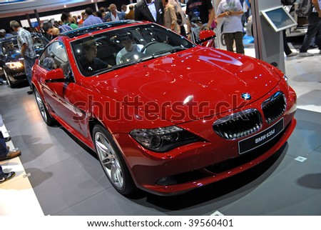 FRANKFURT - SEPT. 20: A BMW 635d - Efficient Dynamics is shown at the  63rd IAA (Internationale Automobil Ausstellung) on September 20, 2009 in Frankfurt, Germany.