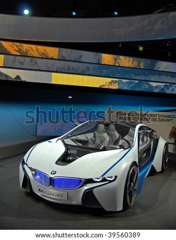 FRANKFURT - SEPT. 20: BMW Concept Car Vision Efficient Dynamics shown at the 63rd IAA (Internationale Automobil Ausstellung) on September 20, 2009 in Frankfurt, Germany.