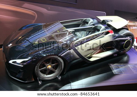 FRANKFURT   SEPT 13: Concept Car Peugeot EX1 At The 64th IAA  (Internationale Automobil