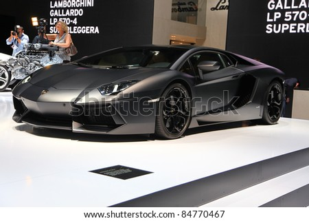 FRANKFURT   SEPT 14: Lamborghini Aventador LP 700 4 Shown At The 64th IAA