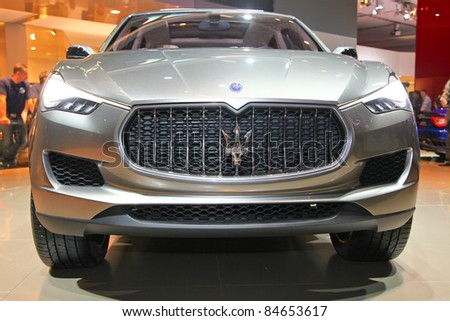 FRANKFURT - SEPT 13: Maserati Kubang presented as design concept at the 64th IAA (Internationale Automobil Ausstellung) on September 13, 2011 in Frankfurt, Germany