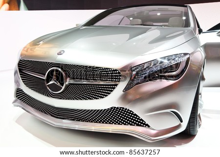 FRANKFURT - SEPT 24: Mercedes-Benz Concept A-Class shown at the 64th IAA Motor Show (Internationale Automobil-Ausstellung) in Frankfurt, Germany, on September 24, 2011.
