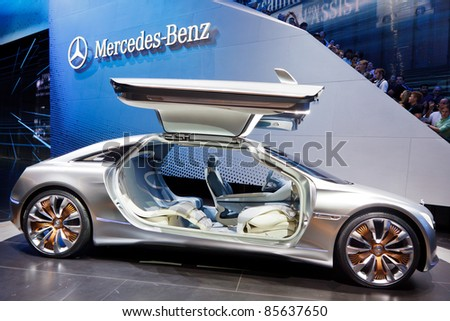 FRANKFURT - SEPT 24: Mercedes-Benz F125 Concept Car shown at the 64th IAA Motor Show (Internationale Automobil-Ausstellung) in Frankfurt, Germany, on September 24, 2011. - stock photo
