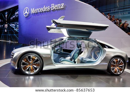 FRANKFURT - SEPT 24: Mercedes-Benz F125 Concept Car shown at the 64th IAA Motor Show (Internationale Automobil-Ausstellung) in Frankfurt, Germany, on September 24, 2011.