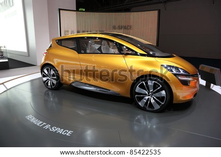 FRANKFURT - SEPT 24: The Renault R-Space Concept Car at the 64th IAA (Internationale Automobil Ausstellung) on September 24, 2011 in Frankfurt, Germany - stock photo