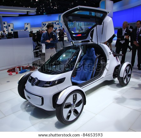FRANKFURT - SEPT 13: Volkswagen Concept Car Nils presented at the 64th IAA (Internationale Automobil Ausstellung) on September 13, 2011 in Frankfurt, Germany
