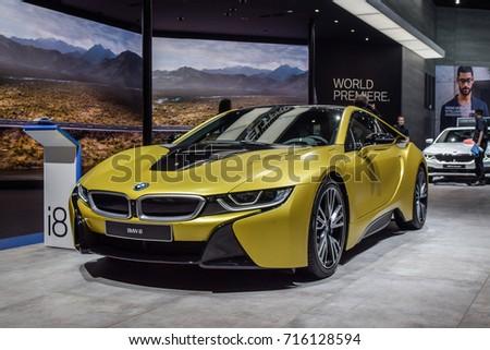 Frankfurt september 12 2017 bmw i8 stock photo 716128594 frankfurt september 12 2017 bmw i8 is on display at 67th iaa sciox Image collections