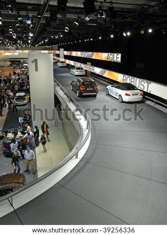 FRANKFURT -  SEPTEMBER 20: International Car Show - 63rd IAA (Internationale Automobil Ausstellung) on September 20, 2009 in Frankfurt, Germany. - stock photo