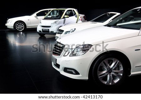 FRANKFURT - SEPTEMBER 20: Mercedes Benz on the 63rd IAA (Internationale Automobil Ausstellung) on September 20, 2009 in Frankfurt, Germany.