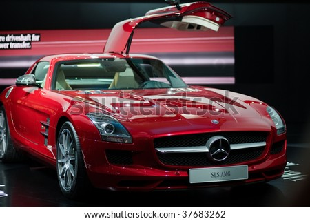 FRANKFURT - SEPTEMBER 15: Mercedes Benz shown on 63rd IAA (Internationale Automobil Ausstellung) on September 15, 2009 in Frankfurt, Germany.