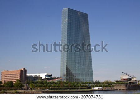 Frankfurt skyline  - stock photo
