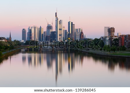 Frankfurt skyline, Germany - stock photo