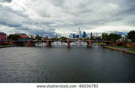 Frankfurt the European financial city - stock photo