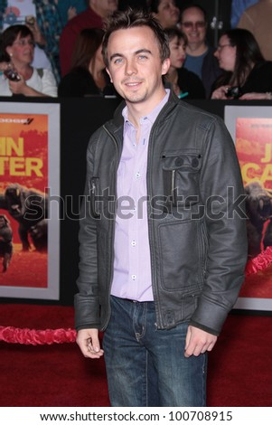 "Frankie Muniz at the ""John Carter"" Los Angeles Premiere, Regal Cinemas, Los Angeles, CA 02-22-12 - stock photo"