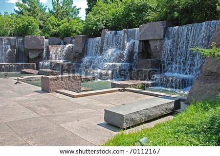 Franklin Delano Roosevelt Memorial in Washington DC - stock photo