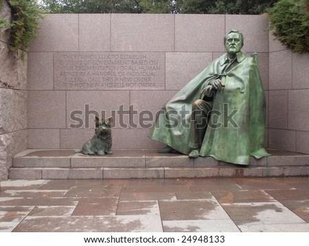 Franklin Delano Roosevelt Memorial, Washington D.C. - stock photo