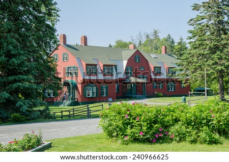 Franklin Delano Roosevelt's summer cottage on Campobello Island in the Canadian Province of New Brunswick.