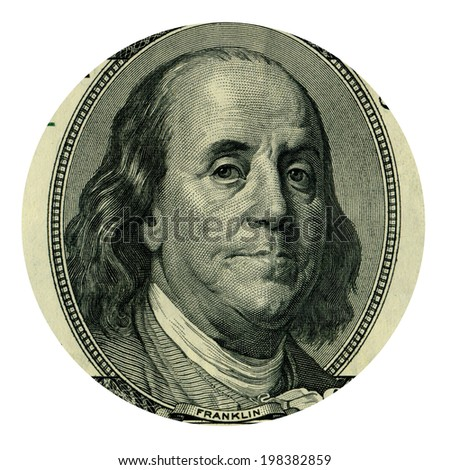 Franklin from 100 dollars banknote