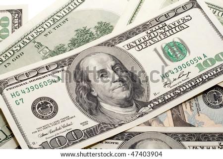 Franklin money - stock photo